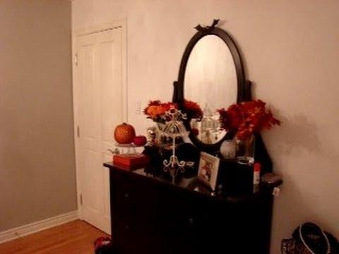 d corer sa chambre pour l 39 halloween et pour l 39 automne youtube. Black Bedroom Furniture Sets. Home Design Ideas