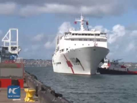 Chinese hospital ship port calls at U.S.