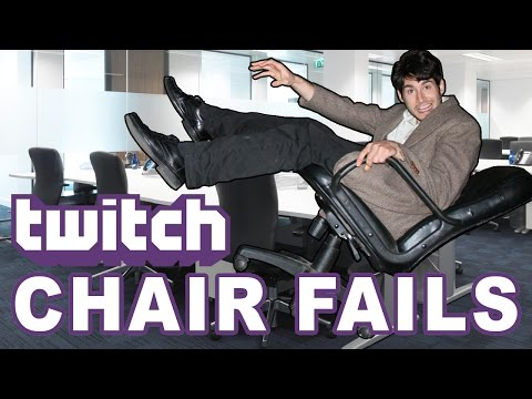 Top 10 Twitch Chair Breaking/Falling Fails #1