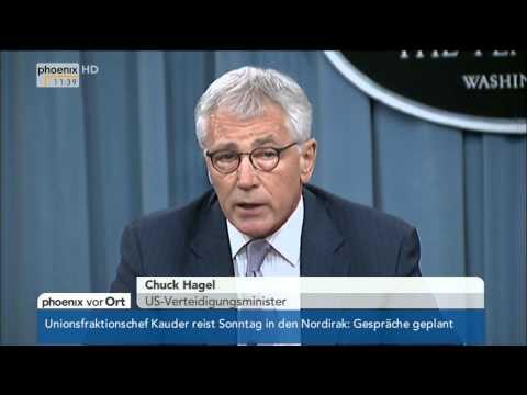 IS-Milizen: Chuck Hagel & Martin Dempsey zum Eingreifen der USA im Irak am 22.08.2014