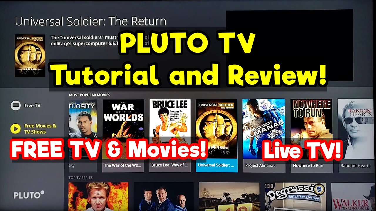 Pluto Tv Tutorial And Review On Samsung Ru7100 Smart Tv 4k Free Movies Tv Shows Youtube