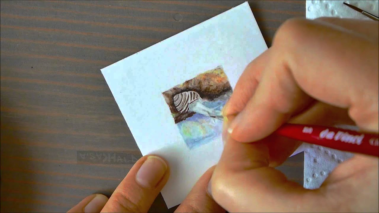 Tiny Spring 10 05 2015 Miniature Watercolor Series Painting 25cm