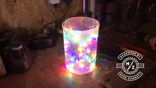 Woodturning - a festive light show in resin