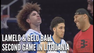 LaMelo Ball & LiAngelo Ball Second Game in Lithuania LaMelo IN GAME DUNK  + NEW CHINO HILLS Footage