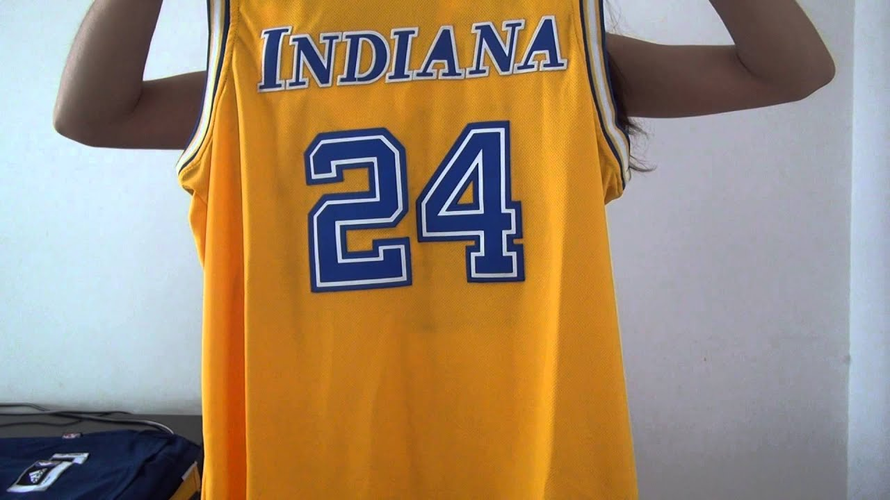 detailed look 0b308 6e788 Indiana Pacers #24 Paul George NBA Hardwood Classic Swingman Yellow Jersey