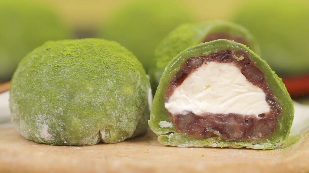 Matcha Cream Daifuku Green Tea Mochi Dessert Recipe Cooking With Mille Shopia Top Creme Dog