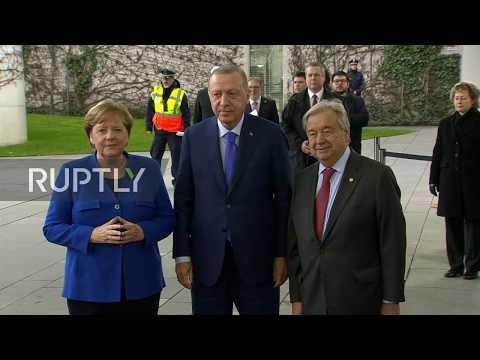 Germany: Erdogan Met By Merkel And Guterres As He Joins Leaders At Berlin Libya Conference