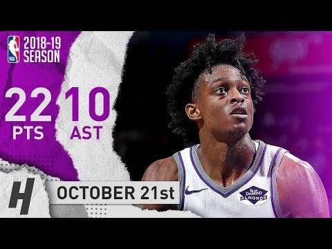 De'Aaron Fox Full Highlights Kings vs Thunder 2018.10.21 - 22 Pts, 10 Assists!