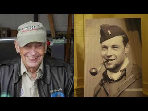 Bill Overstreet and his personal memorabilia of the 357th FG, 363rd FS WWII