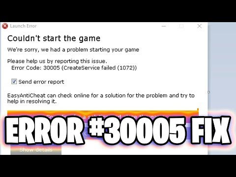 How To Fix Error Code #30005 (1072) | Fortnite EasyAntiCheat Fix