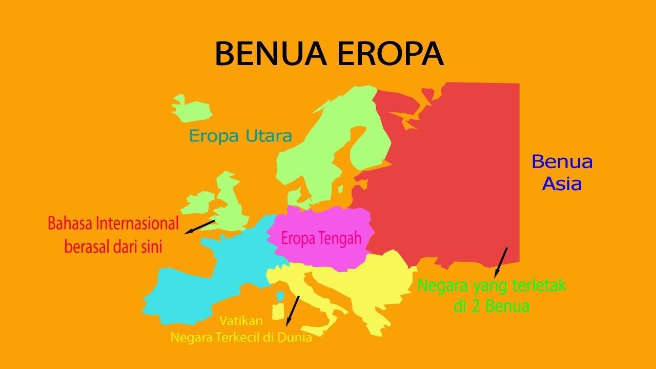 Eropa Timur Gambar Peta Benua Eropa Fakta Benua Eropa Youtube