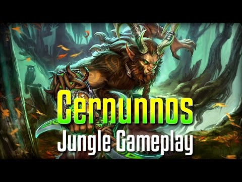 Smite: THAT DAMAGE IS RIDICULOUS!- Cernunnos Jungle PTS Gameplay