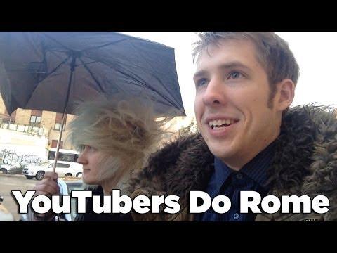 YouTubers Do Rome Day 1 | Nighttime Pizza | Evan Edinger Travel