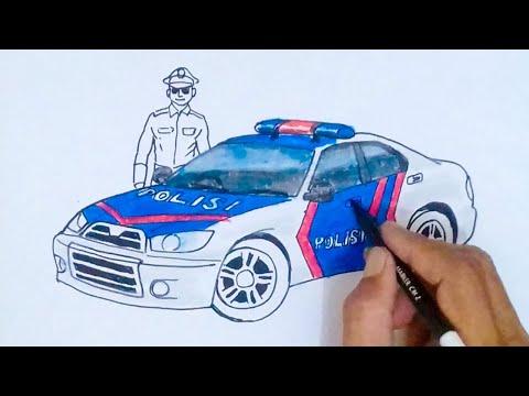 MOBIL POLISI - CARA Menggambar dan Mewarnai MOBIL POLISI fdb2350c4c