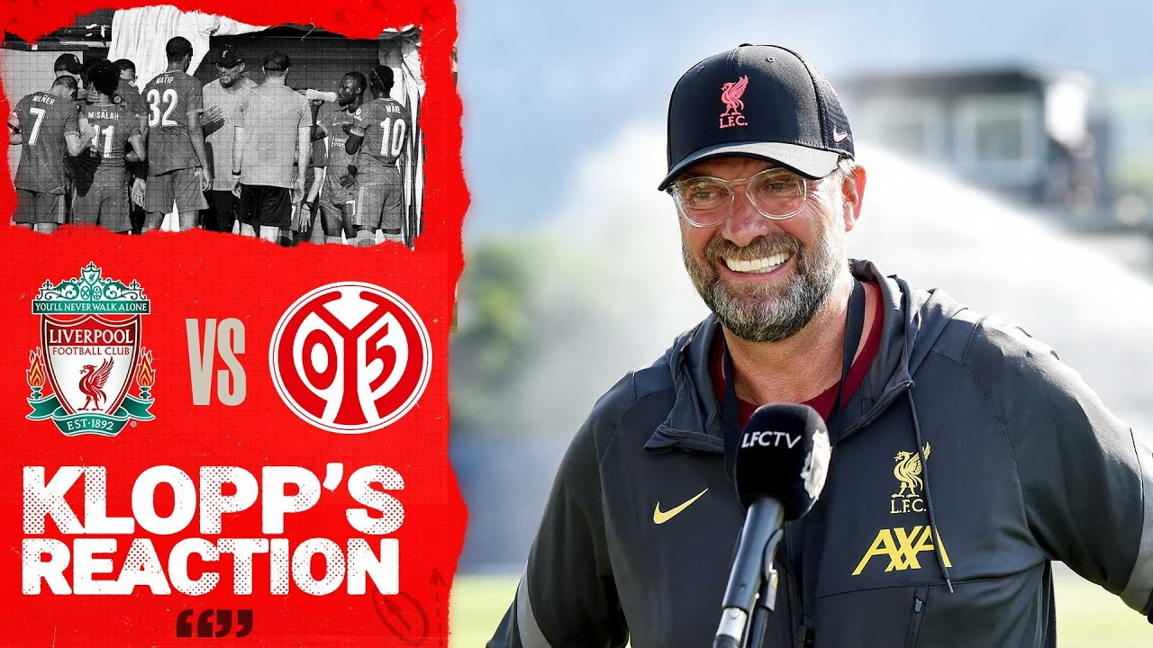 Klopp's Reaction: The youngsters fought for a result in the second half | Liverpool vs Mainz