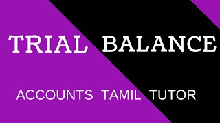 Trial Balance | Accounts Tamil Tutor |