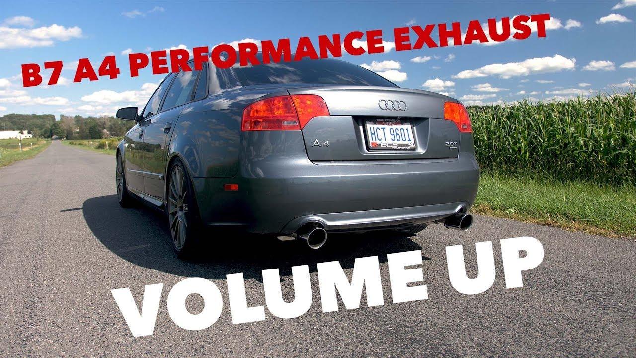 ecs tuning audi b7 a4 performance exhaust system