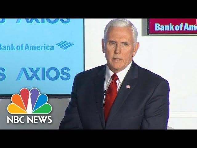 Vice President Pence On Rob Porter: I Think The White House Could've Handled This Better | NBC News
