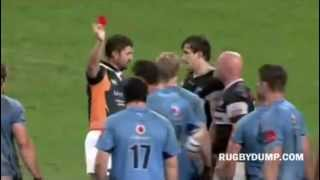 Pieter Dixon's red card after TMO recommendation rules kick to face 2017 Video