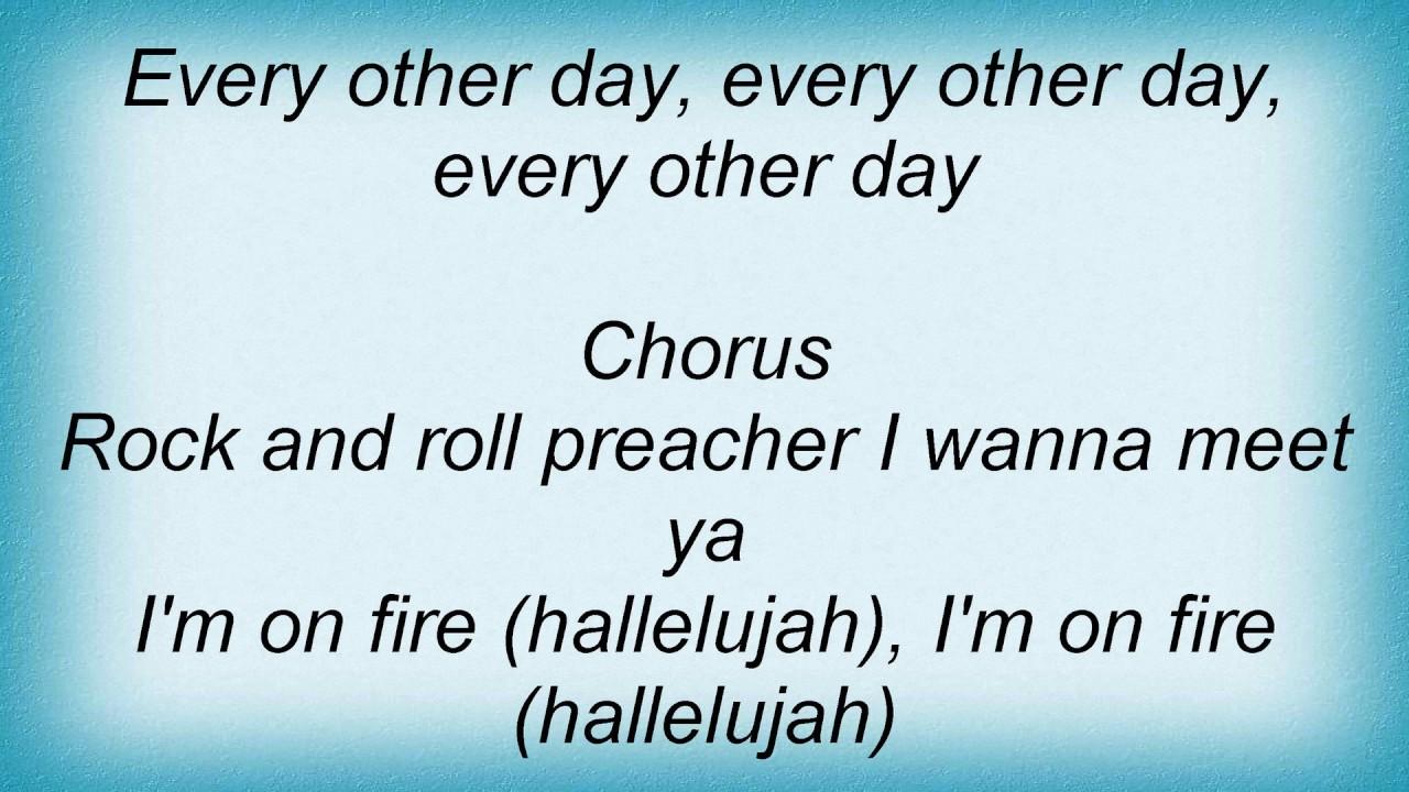 Lyrics containing the term: fire