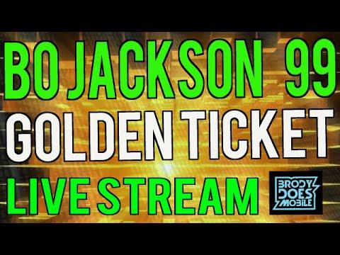 Madden Mobile Live Stream | 99 BO JACKSON GOLDEN TICKET PULL! Madden Mobile 16