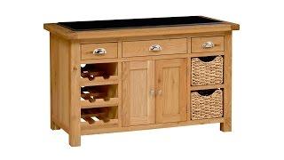 Carlisle Oak Kitchen Island - Pinesolutions