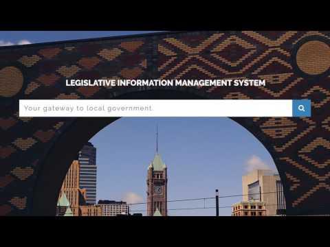 Minneapolis Legislative Information Management System (LIMS)