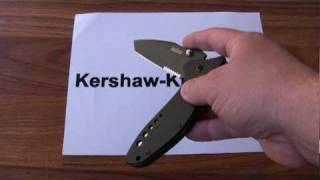 Kershaw Cyclone Tanto Knife 1630TBLKST - Demonstration