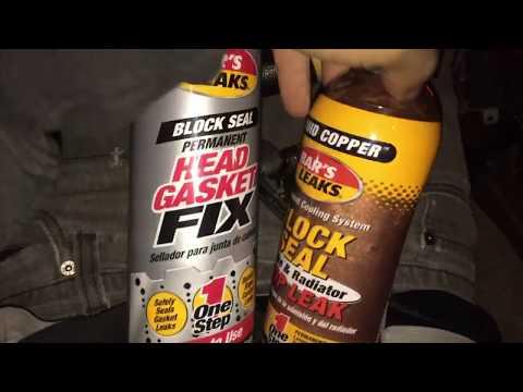 How to Head Gasket Repair Bars Leak Liquid Glass Repair