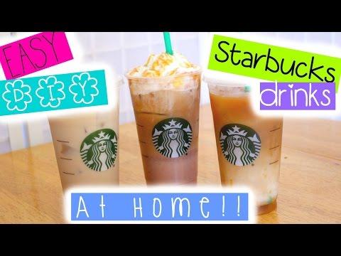 EASY DIY Starbucks drinks at HOME!