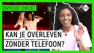 DAG OVERLEVEN ZONDER TELEFOON 😱 | Pip Pellens | Zapplive Checkt | NPO Zapp