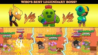 LEON VS PHOENIX CROW VS SPIKE IN BIG GAME :: Who's Best Legendary Boss? | Brawl Stars