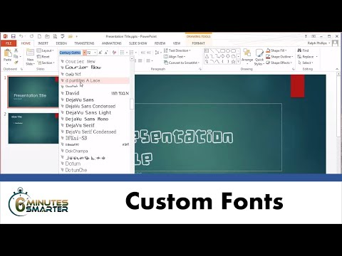 Download / Install Custom Font For PowerPoint Presentations Or Word Documents