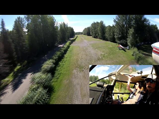 Landing Talkeetna Village strip, AK | Geoff Oliver