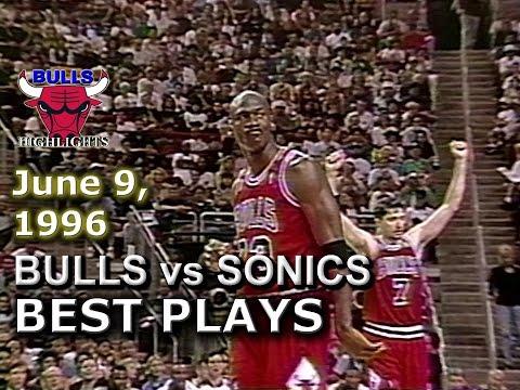 June 09 1996 Bulls vs Sonics game 3 highlights