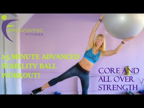 Stability Ball Workout! - 25 Minutes - Advanced