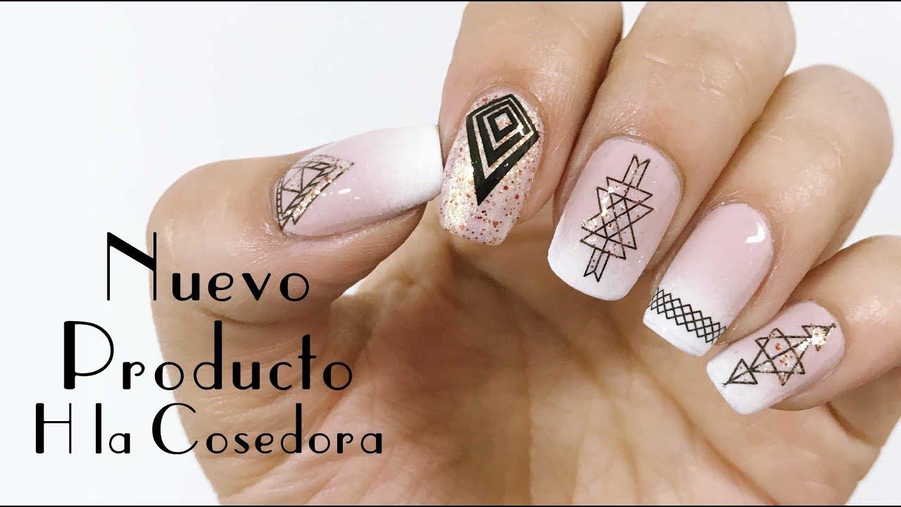 H la cosedora nail art