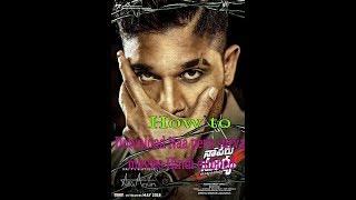 How to Download Naa peru surya movies Hindi dubbed