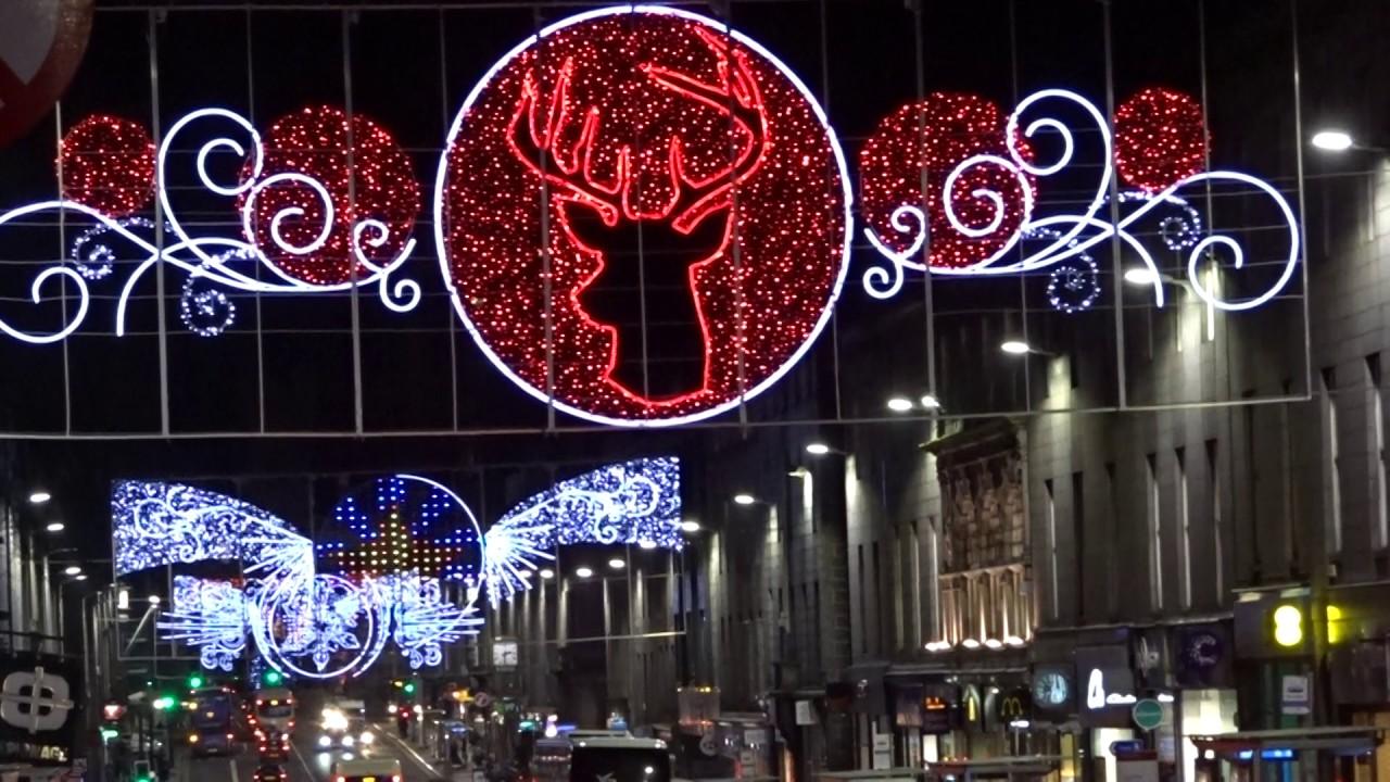 Aberdeen Christmas Lights 2016 on Union Street - YouTube