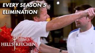 Every Season 5 Elimination On Hell's Kitchen