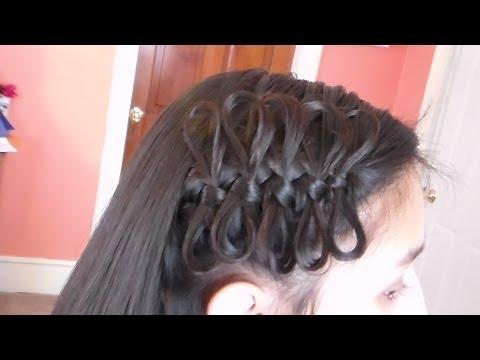 Trenza Con Moños De Un Lado y Cabello Suelto/ Bow Braid Tieback , YouTube