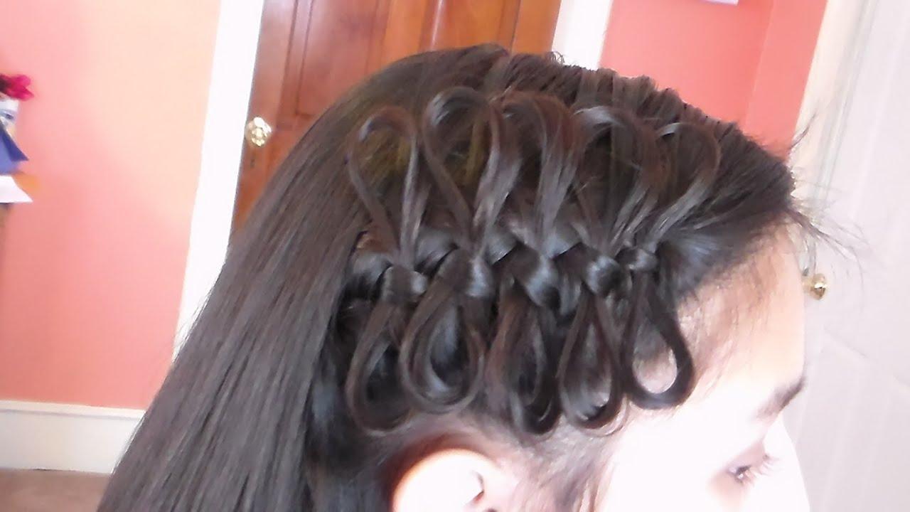 trenza con moos de un lado y cabello suelto bow braid tieback youtube with peinados con trenzas de lado y pelo suelto - Moos Con Trenzas
