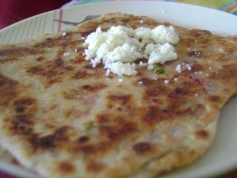 Making Onion Cheese Parantha inHouseRecipes.com
