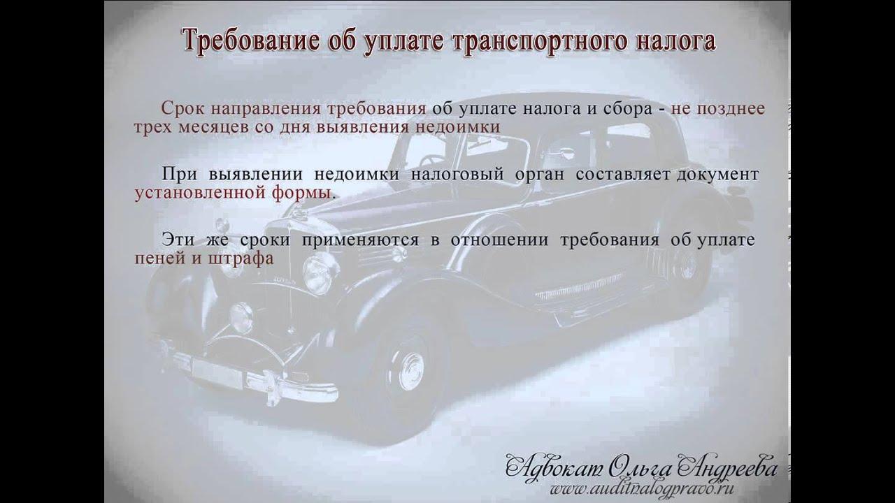 За сколько лет приставы могут взыскивать транспортный налог