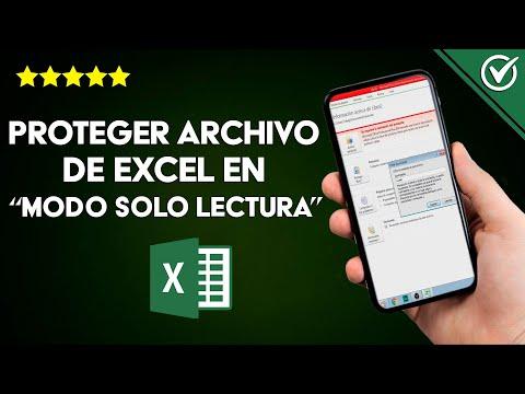 Cómo Proteger un Archivo de Excel para Estado 'modo solo Lectura' y que no se Pueda Modificar