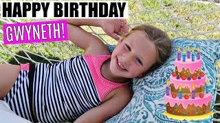 GWYNETH'S 8th BIRTHDAY POOL PARTY AND OPENING PRESENTS!