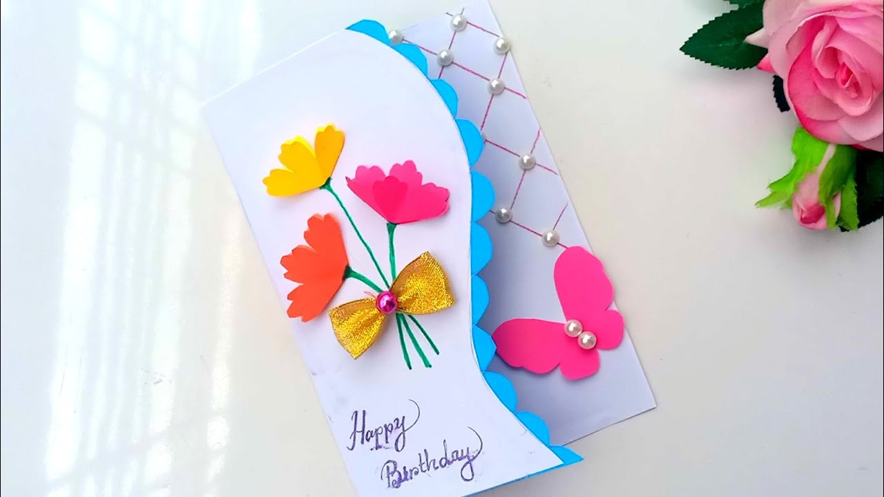 Beautiful Birthday POP UP CARD Idea  Handmade Birthday card easy   complete tutorial