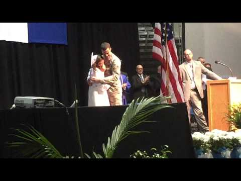 Miami East High School Graduation Military Surprise