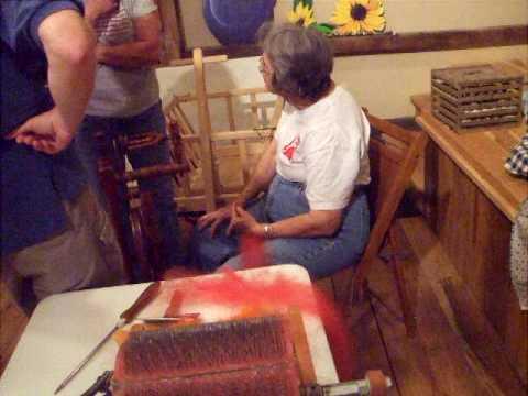 Fiber Art Demo at Lehman's in Kidron, Ohio