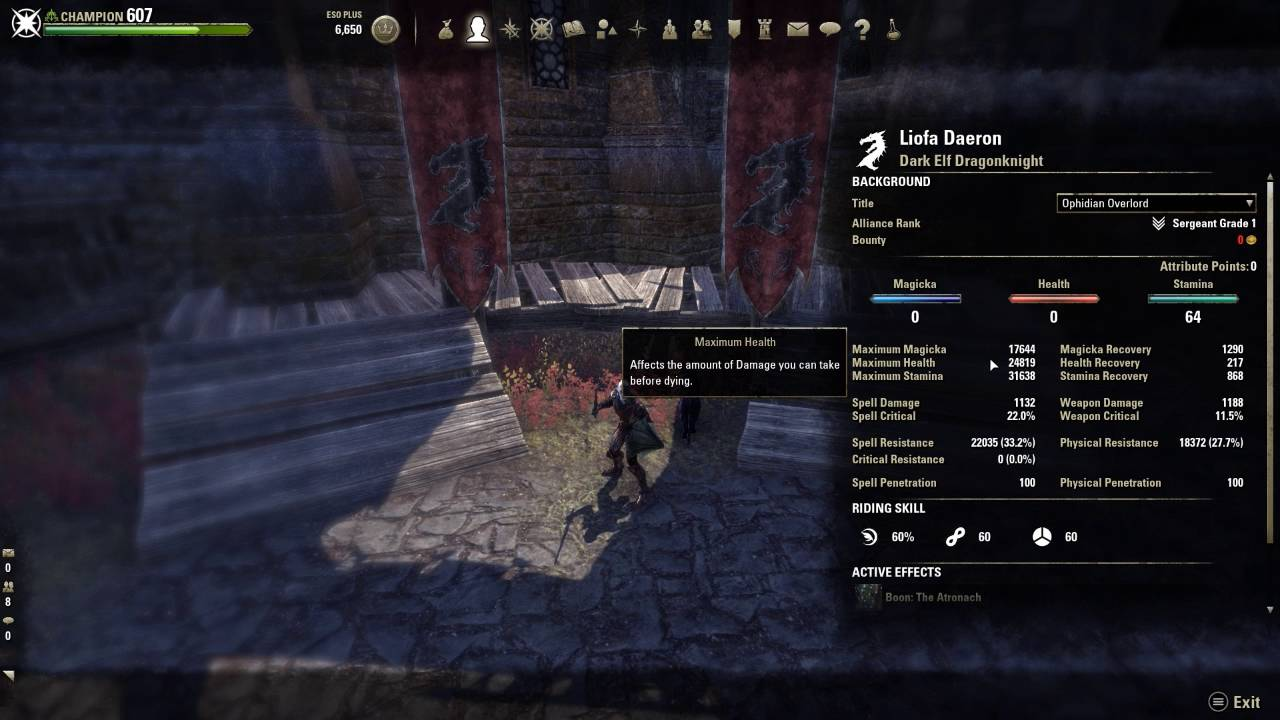 ESO - Horny Tank - Stamina DK - PvE Tank Build for SotH by Liofa